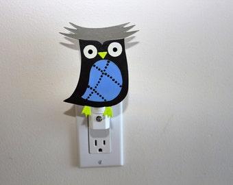 owl night light nursery night room bathroom