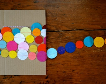 Festive Dot Garland - Felt Garland, Party Decor, Home Decor