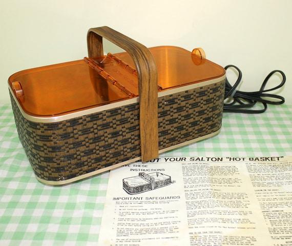 Electric Bun Warmer ~ Vintage salton hot basket bun warmer electric warming