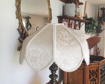 Handmade Boho Victorian Style Paisley Lampshade Vintage Fabric & Frame
