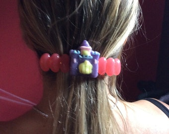 Barrette hair with Castle in candy and jelly beans