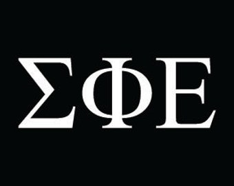 Sigma Phi Epsilon Sorority greek letters decal vinyl window bumper car laptop sticker any size any color free shipping worldwide!