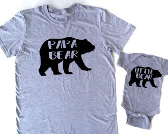 Papa bear daddy bear little bear baby bear bear family shirts matching father and son matching daddy and me shirts fathers day gifts