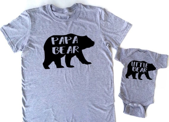 Papa Bear Daddy Bear Little Bear Baby Bear Bear Family Shirts