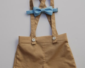 Baby boy/ Little boy Shorts/ suspender/ Bow tie set
