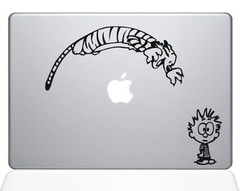 Calvin & Hobbes Funny Decal Vinyl Laptop Apple Macbook Ipad Home Sticker Cartoon Vintage Decor