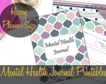 Happy Planner Inserts, Mental Health Journal Happy Planner Insert, Anxiety, Depression, Anger, Create 365, MAMBI Insert