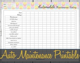 auto maintenance logs