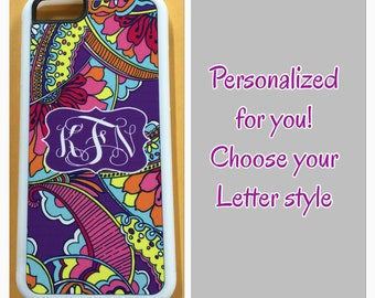 Lilly Pulitzer iPhone case for 6 5 5s 5c 4 4s 6 plus monogram Lilly Pulitzer iPhone case purple paisley iPhone case