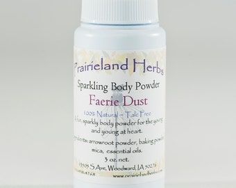 Faerie Dust Shimmering Body Powder vegan all natural