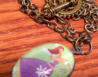 Purple Fairy Pendant necklace