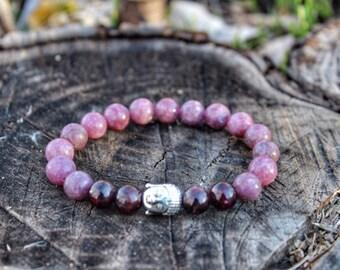 Buddha Tourmaline Garnet Bracelet
