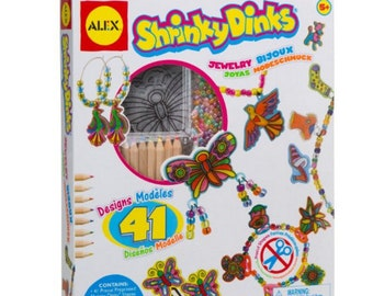Shrinky Dinks Jewelry DIY craft for kids gift FREE SHIPPING New