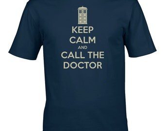 Keep calm and call the doctor - Cool TV Series Inspired Men's T-Shirt From FatCuckoo - MTS1578