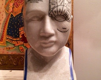 "L.N Fowler 8"" Phrenology Head"
