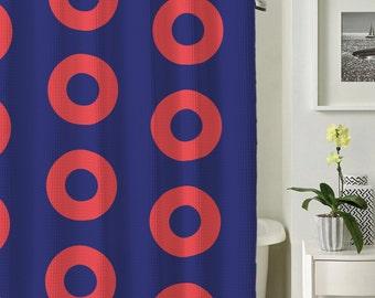 Donuts Shower Curtain, Creative Shower Curtain, Colorful Curtain, Unique Shower Curtain, Symmetrical Shower Curtain, Nerdy Curtain
