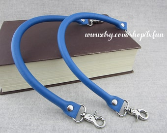 Faux Leather Purse Straps - Blue