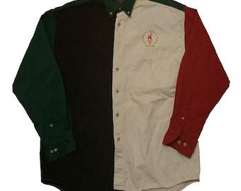 RARE 1996 Atlanta  Olympics color block button down shirt