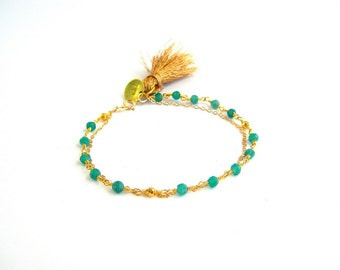 My pretty Paris - green Onyx bracelet