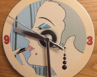 ART DECO CD Clock (Can be Personalised)