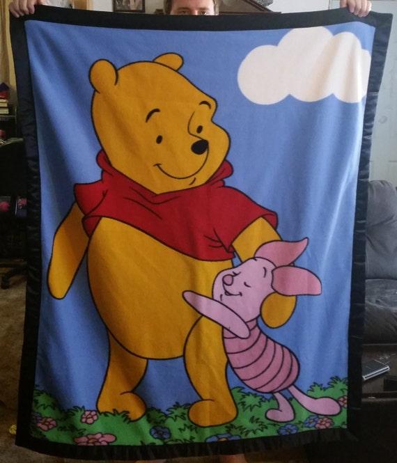 Winnie The Pooh Satin Edged Two Sided Fleece Blanket