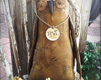 XXL Primitive owls - primitive owl - home decor - primitive decor