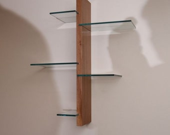 floating wall w/5 glass pcs.