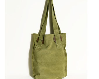 Summer trends, Summer bag, Gift for her, Summer finds, Green suede Bag, Suede bag,  Suede Totes, Tote bag, Green bag