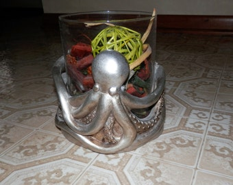 Whimsical Octopus Glass Vase Ceramic Holder for Potpourri Candles Home Decor Decorating Ideas