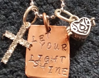 Let Your Light Shine memory necklace
