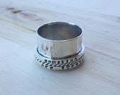 Personalized Spinner Ring, Silver Spinner Ring, Sterling Silver Spinner Ring, Custom Spinner Ring, Personalized Silver Spinner Ring