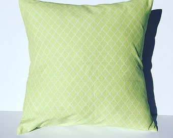 Throw pillow cover Accent pillow light green and white pillow cover home decor pillow cover decorative throw pillow cover envelope closure