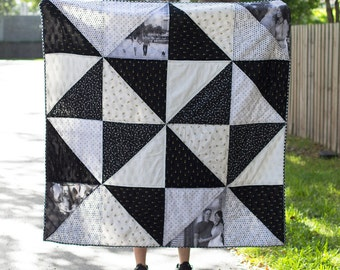 Wedding Photo Right Triangle Quilt