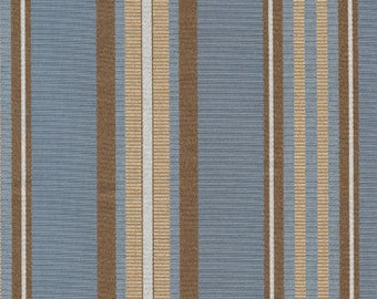 Blue and Brown Stripe 100% Polyester
