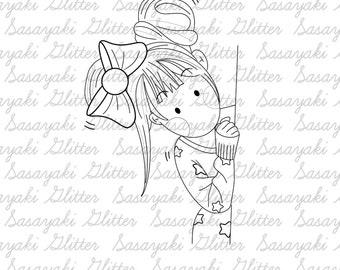 Hide and Seek digital stamp by Sasayaki Glitter