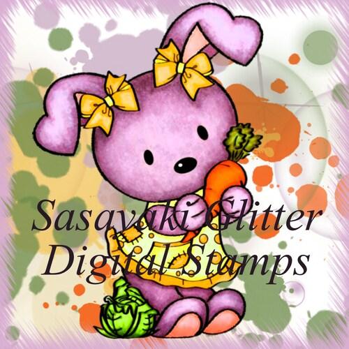 Sasayaki Glitter Digital Stamps