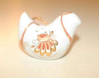 Ceramic Bird Sachet/Scent Holder Retro 1970's