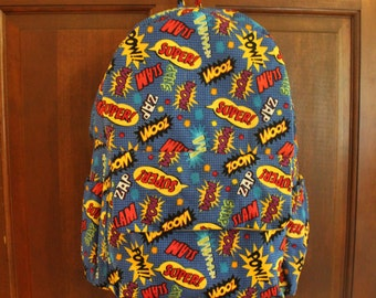 Kids Backpack, superhero Backpack