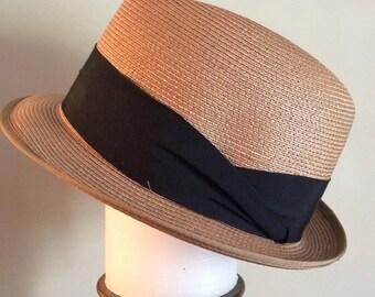 Vintage Fedora Braid Hat, 1950, Swiss Milan, Buckley Hat, Mens fedora hat, Mens dress hat Size 7 1/8, Quality vintage hat, Excellent Cond