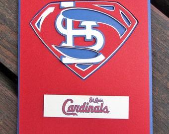 St. Louis Cardinals Card - Super Cardinals Fan, Baseball Team Card