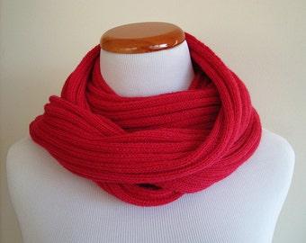 SALE (Original Price USD85) 100% Cashmere Hand Knit Scarf (Dark Rose 0010)