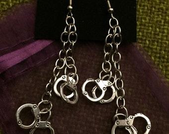 Double Dangling Handcuff Earrings