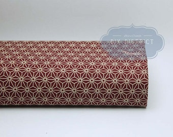 Asanoha red Japanese fabric