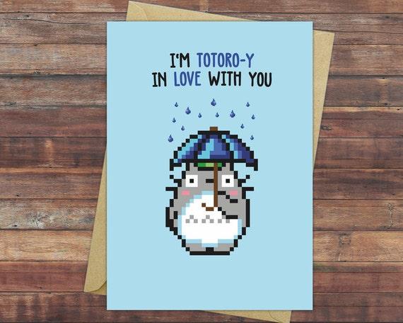 Totoro Valentine's Day Card