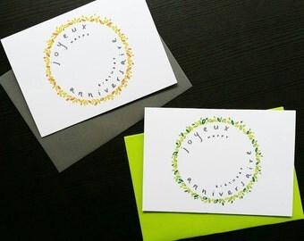 Joyeux Anniversaire - Bilingual Birthday Card French & English