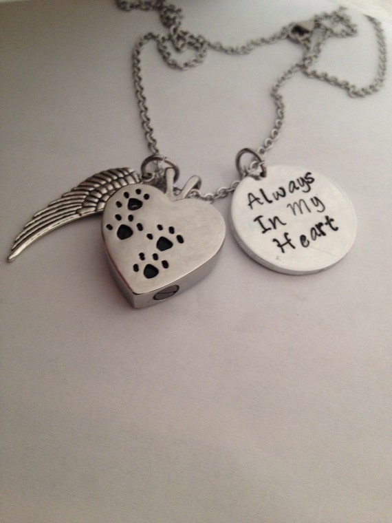 pet urn necklace sympathy pet necklace pet by