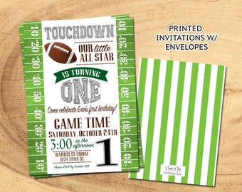 FOOTBALL Birthday PRINTED INVITATIONS | With or Without Photo | Football Party Invites