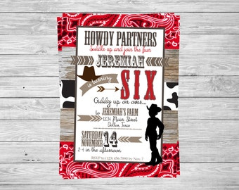 COWBOY Birthday Invitaiton