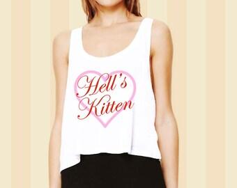 Hell's Kitten Cropped Tank Top