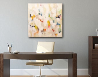 MODERN ABSTRACT Original Painting, Colorful Abstract Painting, Modern Home Decor